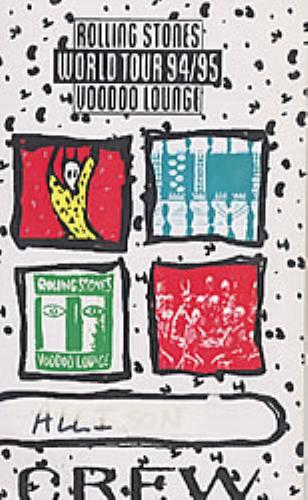 Rolling Stones Voodoo Lounge World Tour 94/95 UK Promo book.