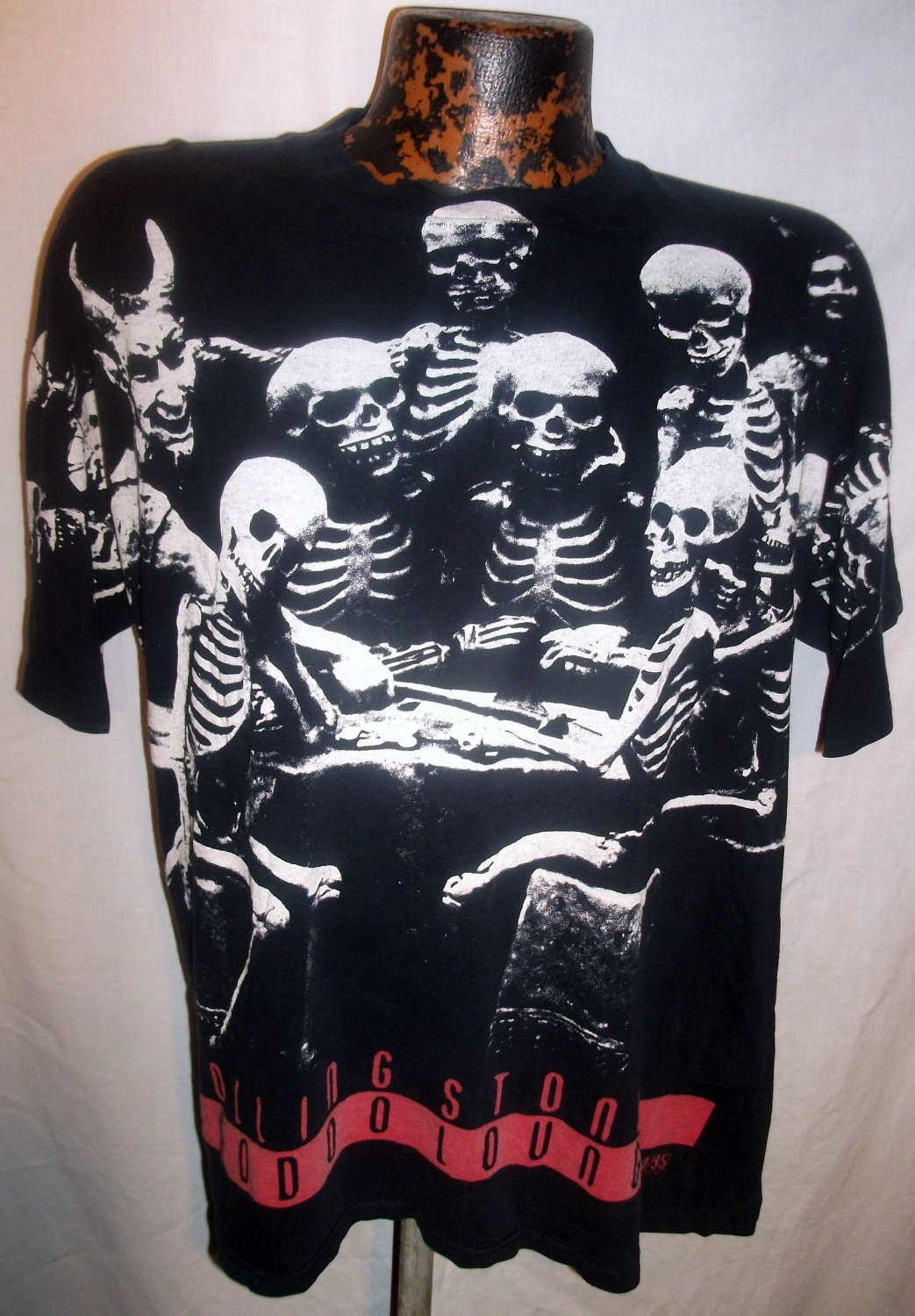 Mens Early 90s Black Rolling Stones Voodoo by dustybunnyranch.