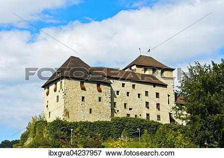 Picture of Schattenburg castle, Feldkirch, Vorarlberg, Austria.