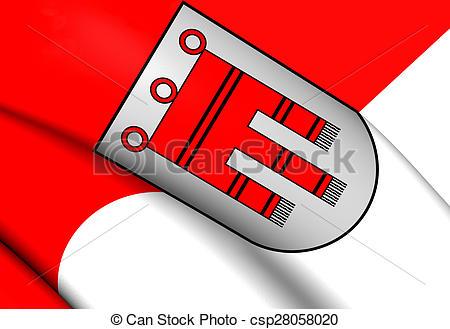 Clip Art of Flag of Vorarlberg, Austria. Close Up. csp28058020.