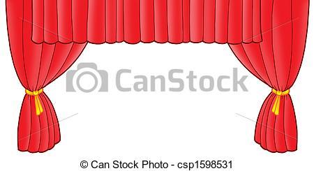 Clipart von Vorhang, rotes, Theater.