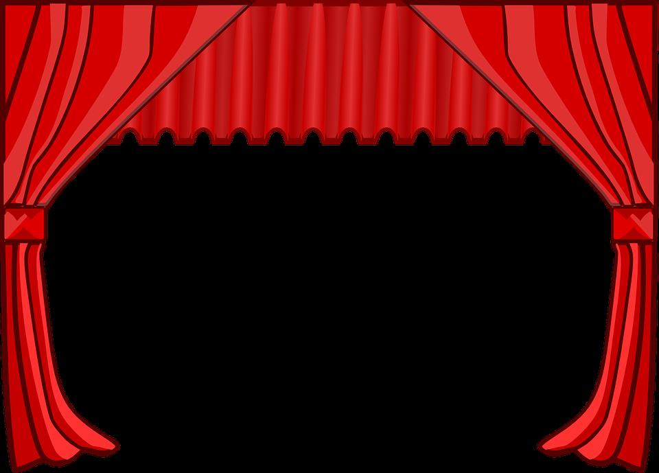 Kostenlose Vektorgrafik: Vorhang, Bühne, Theater, Filme.
