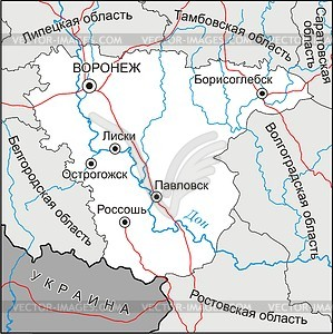 Voronezh oblast map.