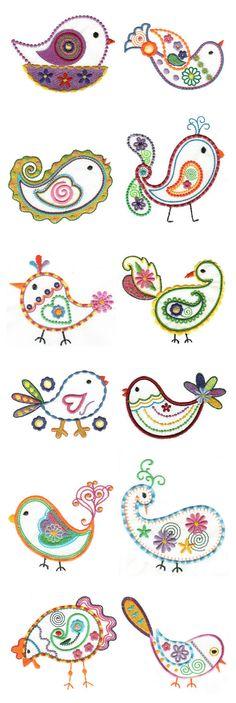 Free embroidery pattern: Bluebird · Needlework News.
