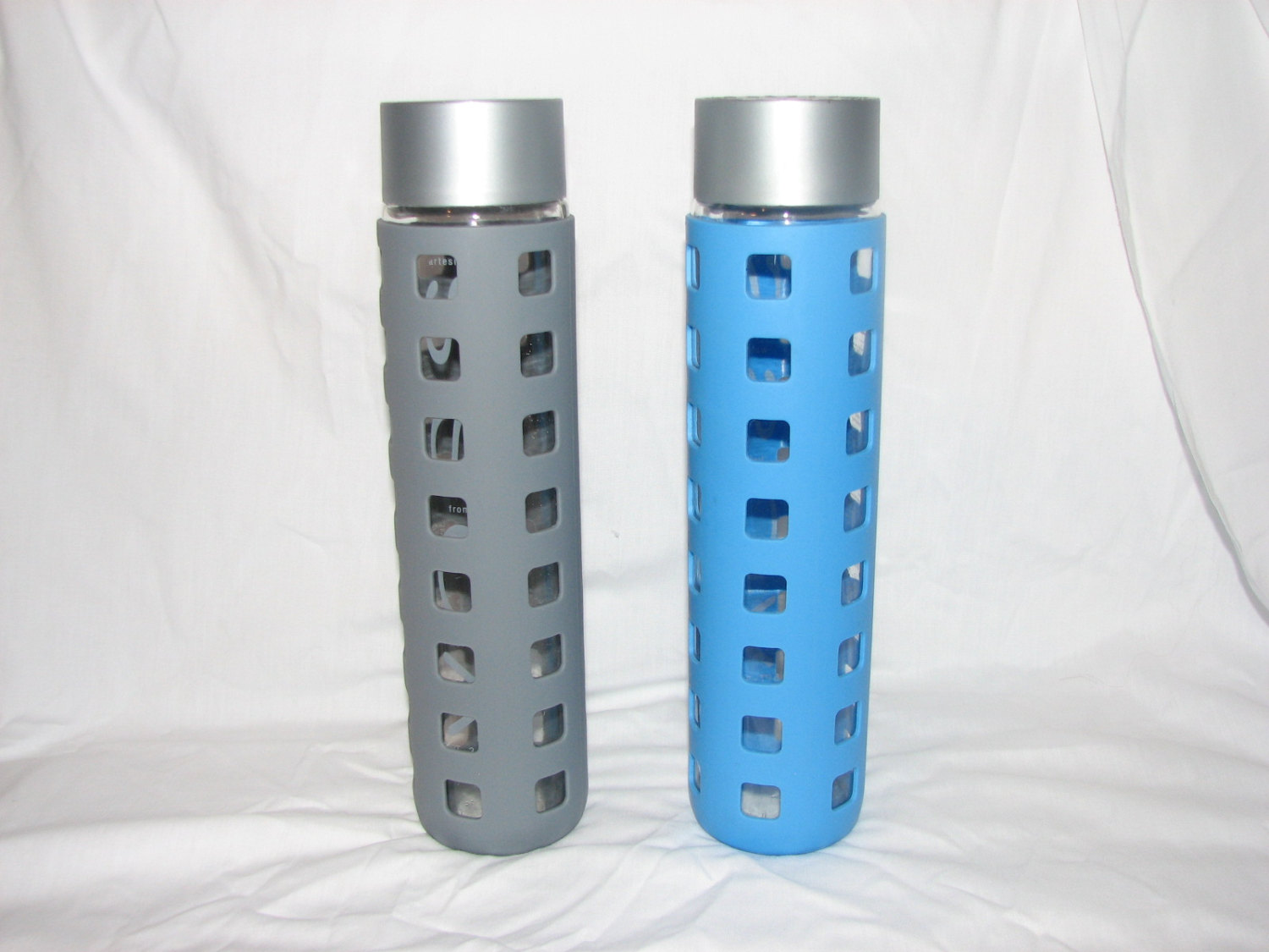 Glass Water Bottle Cover by VossBottleSleeve.