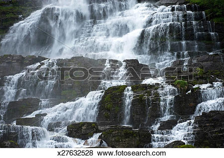 Pictures of Tvinnefossen Waterfall near Voss, Norway x27632528.