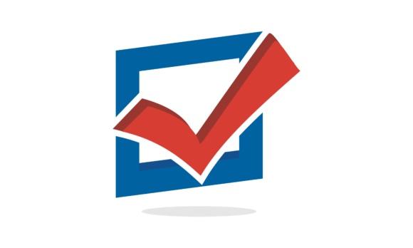Check, mark, vote logo.