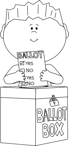 Voting Black And White Clipart.