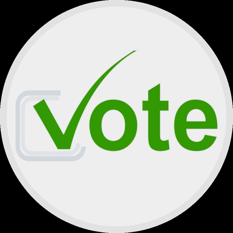 Free Clipart: Vote icon.