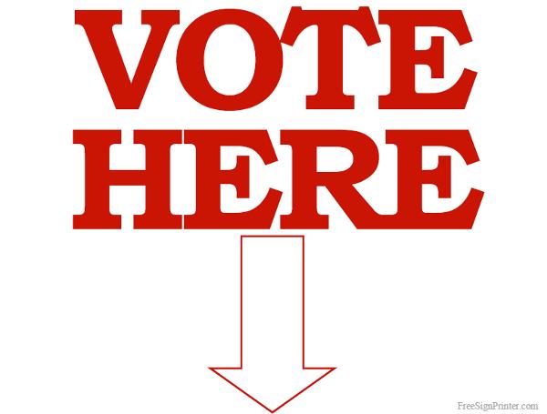 Printable Vote Signs.
