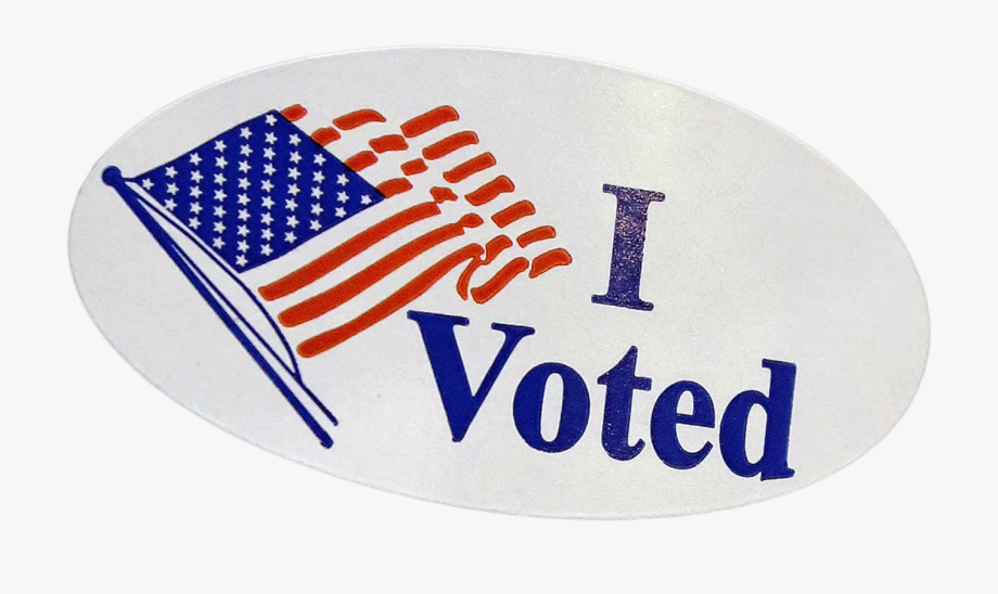 I Voted Sticker Png.