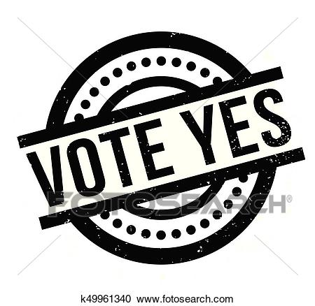 Vote Yes rubber stamp Clipart.