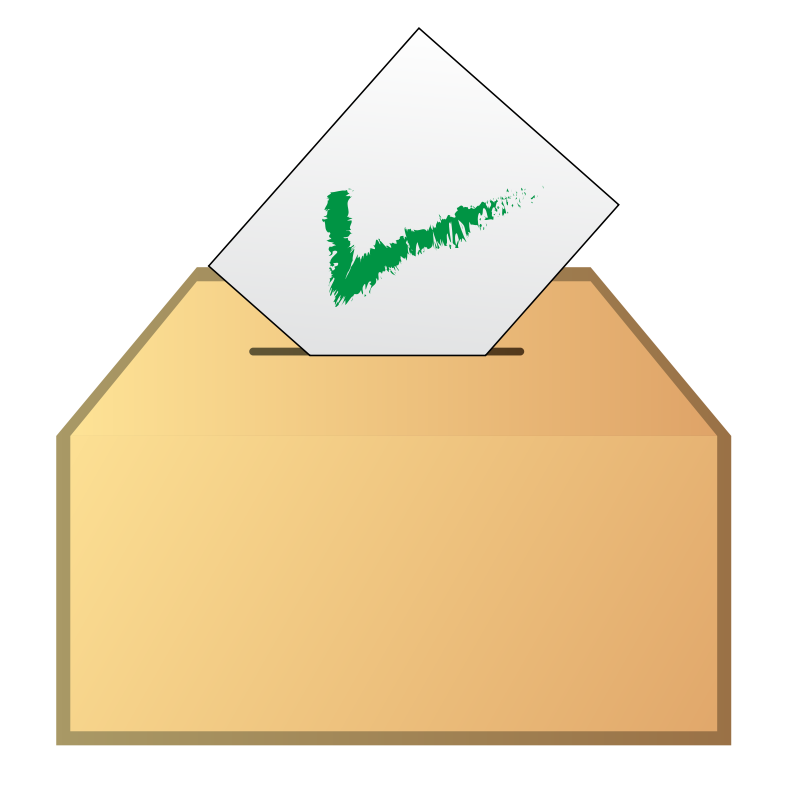 Free Clipart: Vote yes icon.