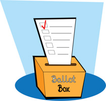 I voted clipart ballot box.