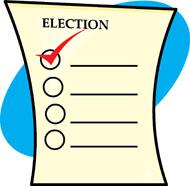 Voter ballot clipart.
