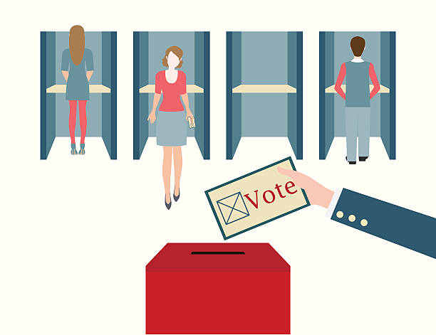 Best Voting Booth Illustrations, Royalty.