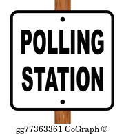 Polling Booth Clip Art.