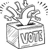 Vote box clipart.