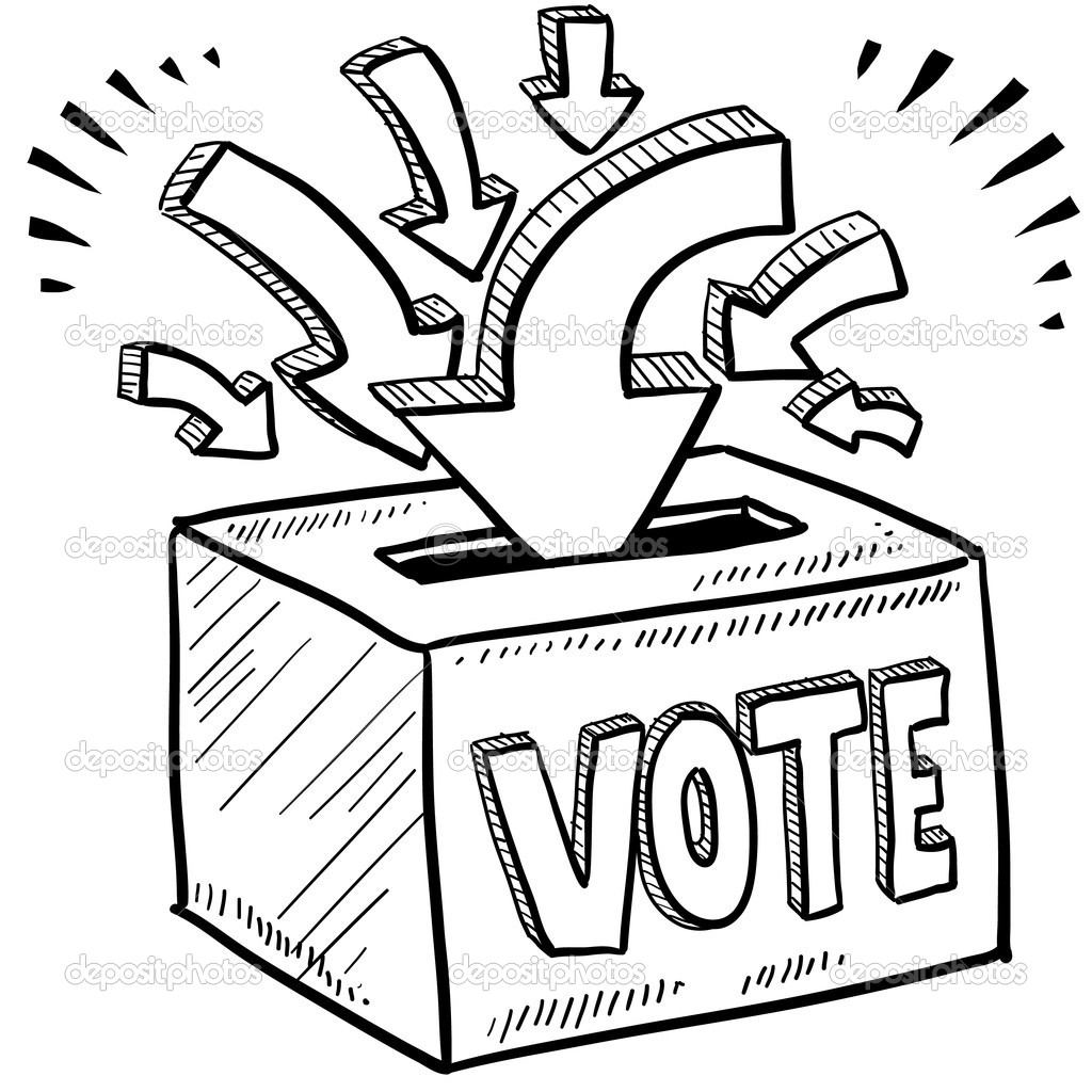 Voting Box Clipart.