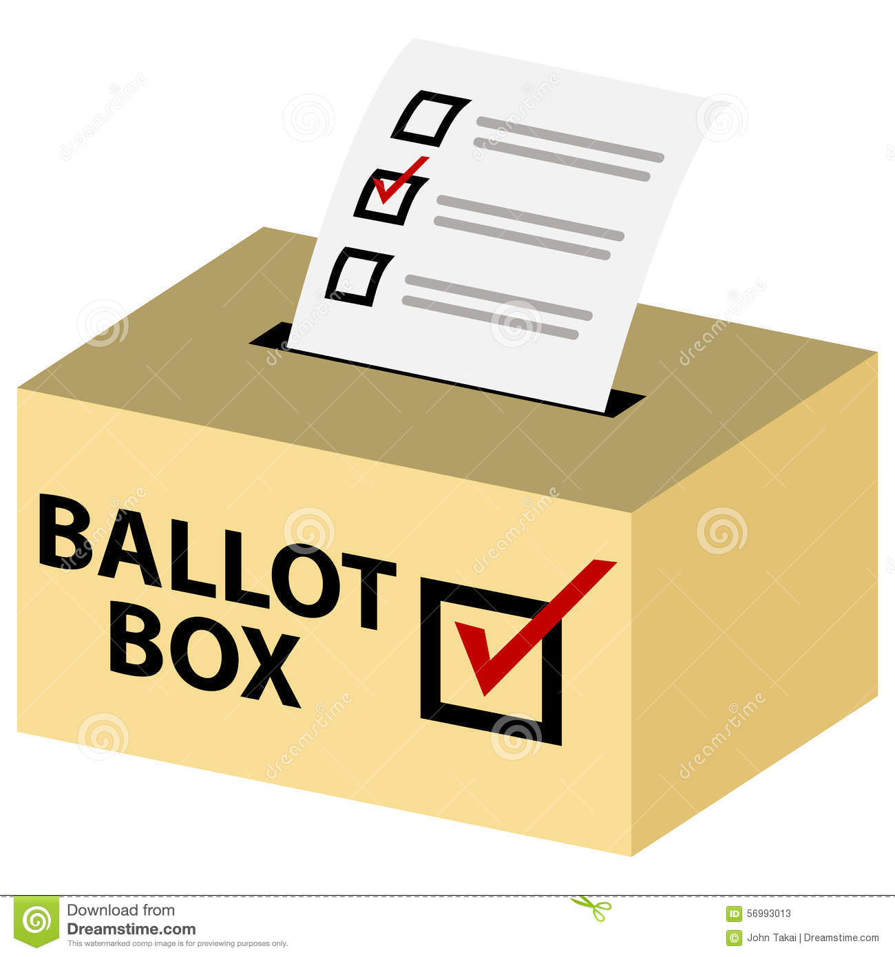 Very small voting box clipart.
