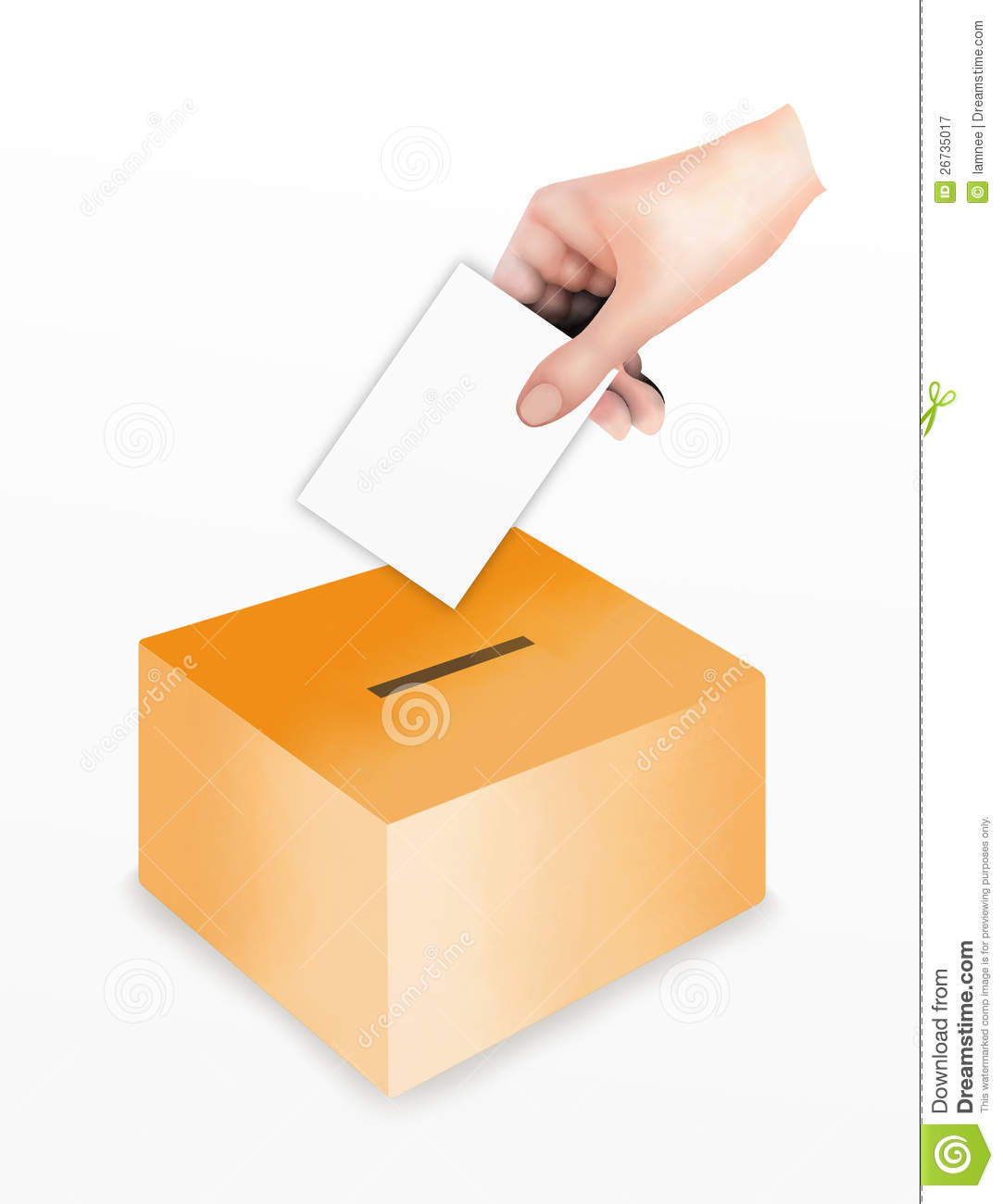 Hand Putting A Voting At The Ballot Box Royalty Free Stock.