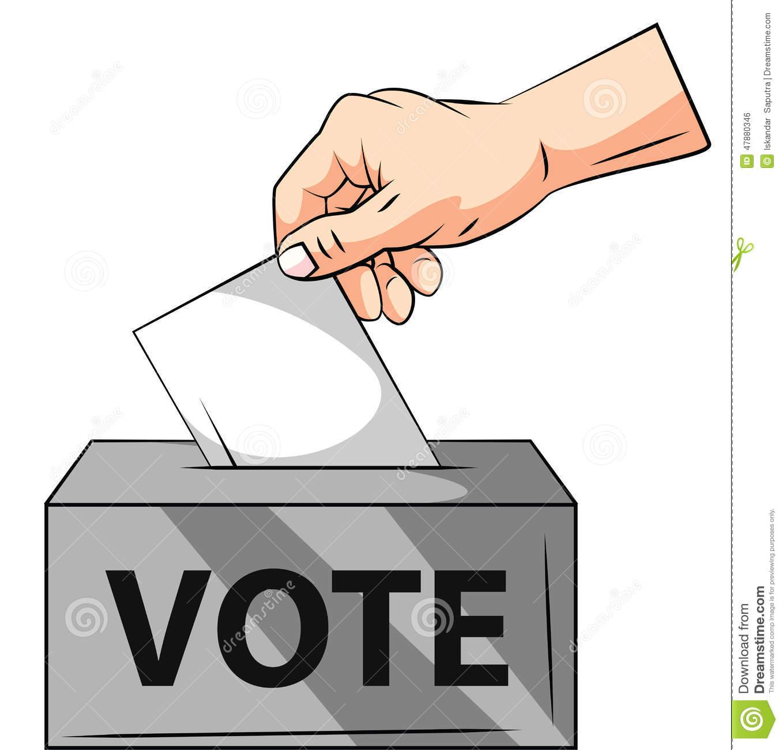 Vote Hand Stock Vector.