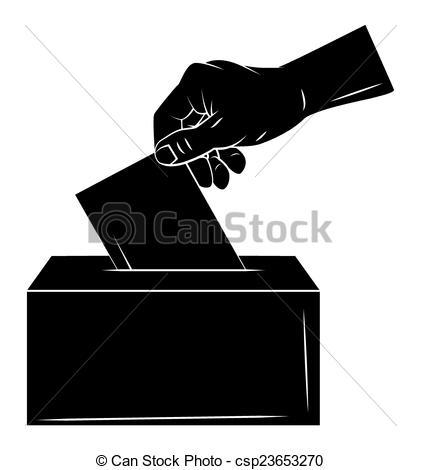Vectors Illustration of Vote Hand csp23653270.