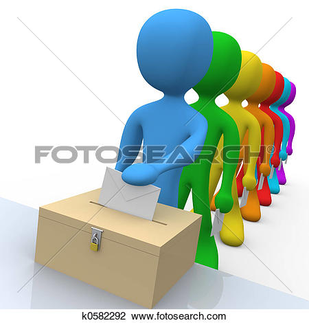 Stock Illustration of Voting k0582286.