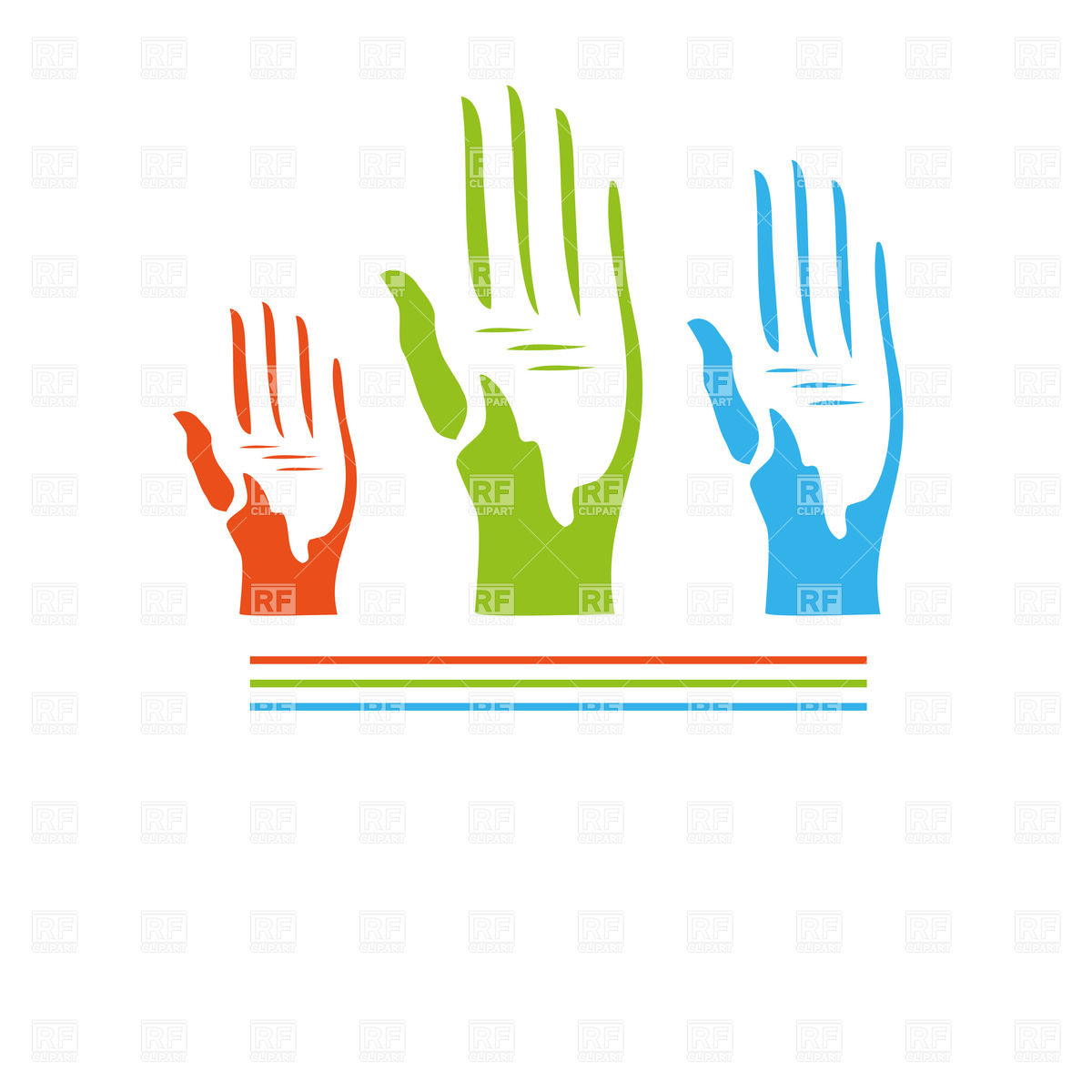 Silhouette of symbolic voting hand Vector Image #24008.