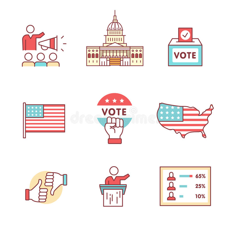 Voting Signs Stock Illustrations.