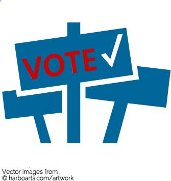 Download : Voting signs icon.