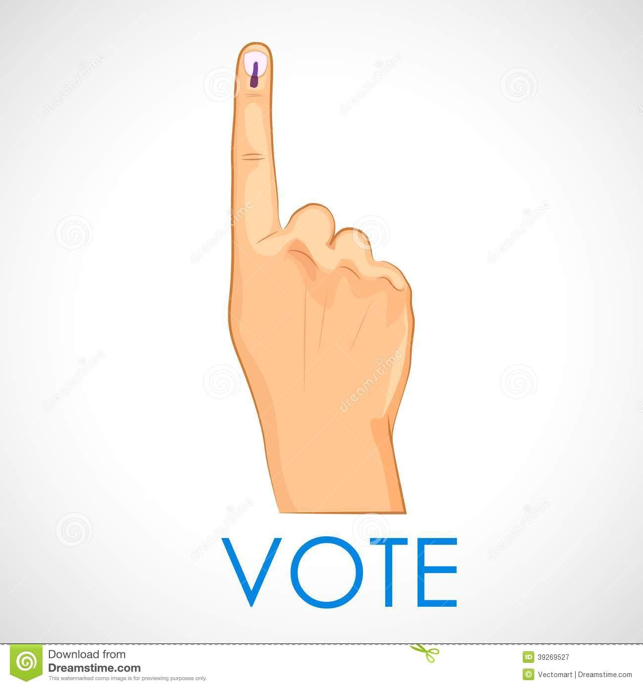 Indian Vote Symbol Clipart.