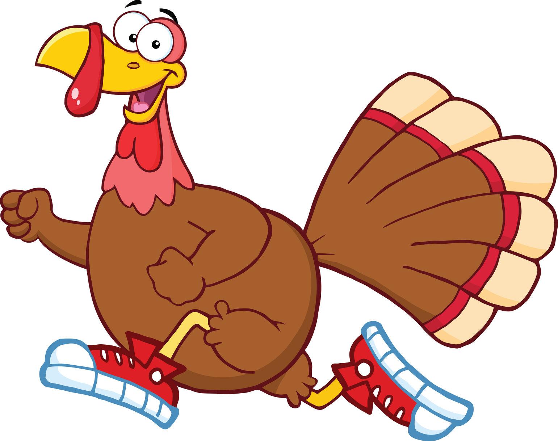 Running Turkey Clip Art N11 free image.