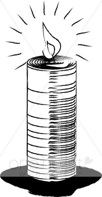 Clipart Simple Candle.