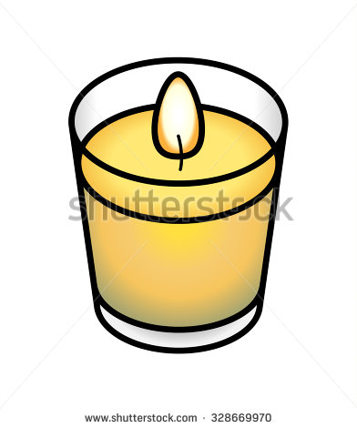Votive Candle Clip Art.