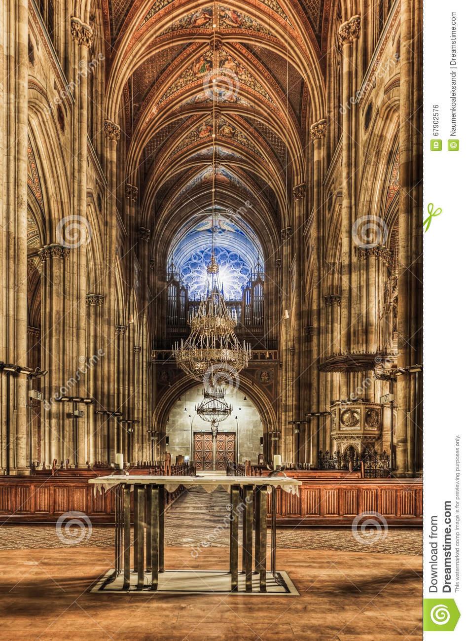 Vienna, Austria. Interior Votive Church Is A Neo.
