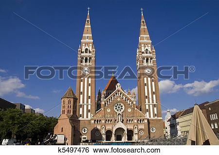 Stock Images of Szegedi Dom (Church of Szeged) k5497476.