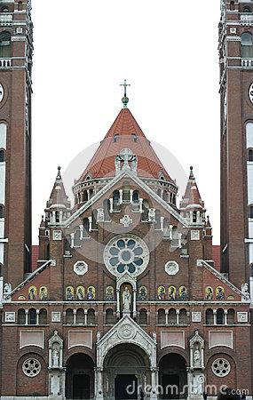 Votive Church Szeged Hungary Stock Illustrations.