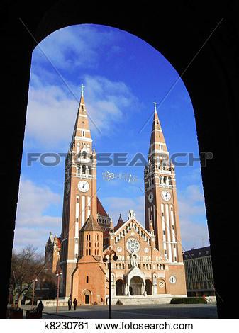 Stock Photography of Church of Szeged (Szegedi Dom) k8230761.