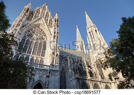 Picture of Votive Church in Vienna.
