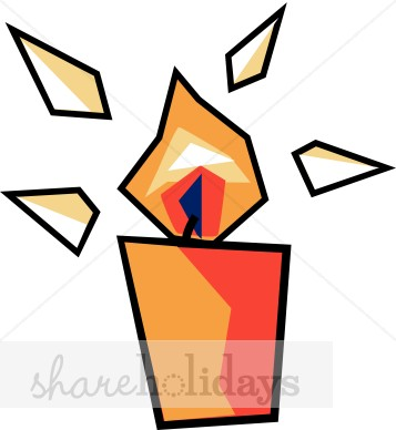 Abstract Orange Votive Candle Clipart.