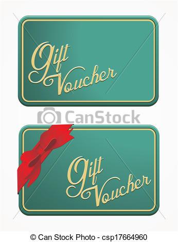 Clip Art Vector of vintage gift voucher.