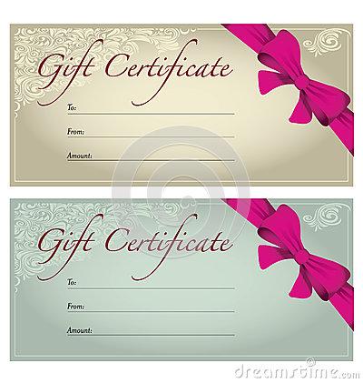 Birthday Gift Certificate Clipart.