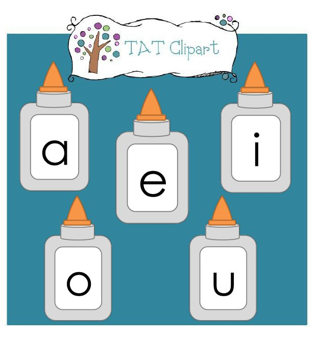 Vowel cliparts.