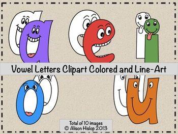Vowel Letters Clipart.