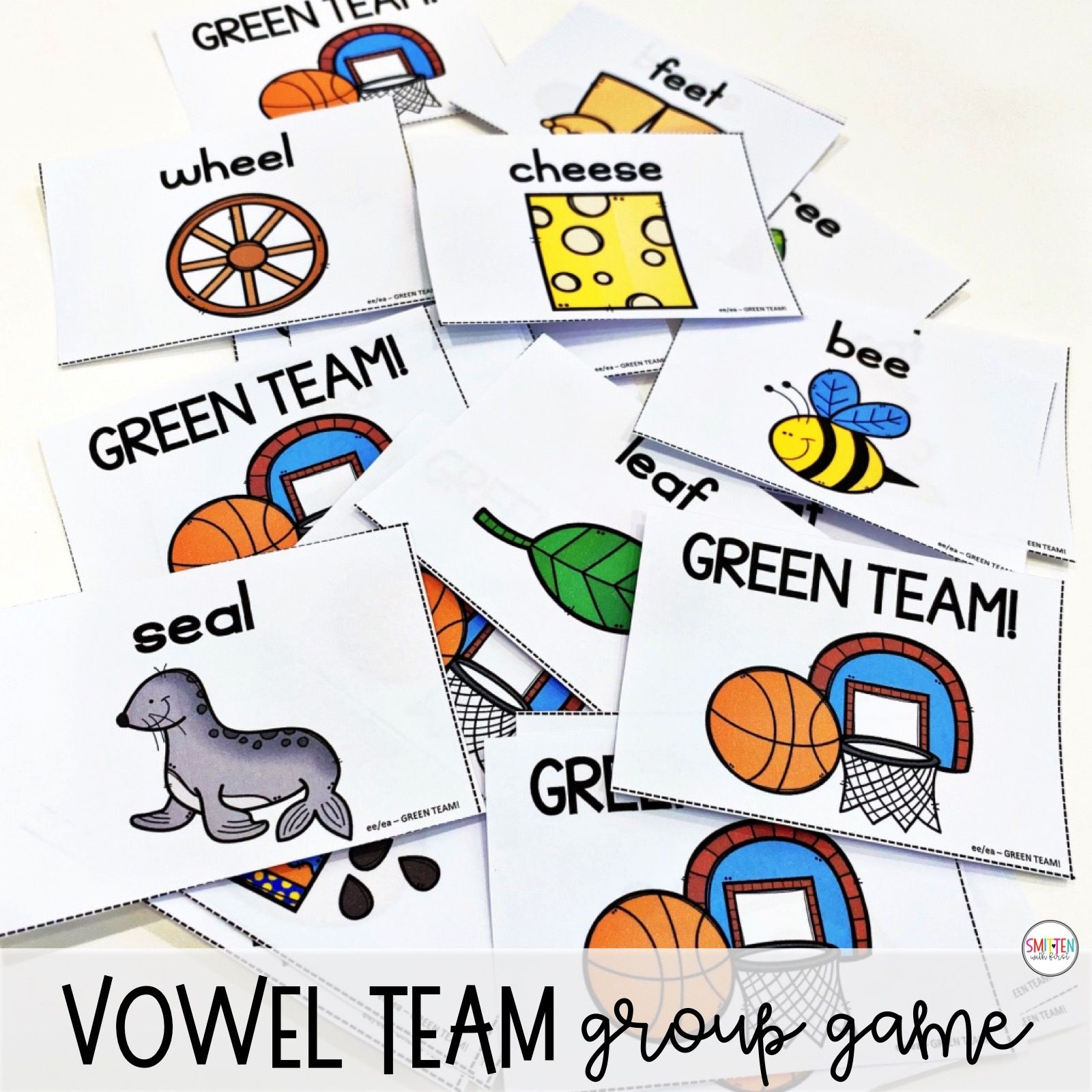 Long E Vowel Teams ee ea phonics activities and games.