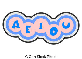 Vowels Illustrations and Clipart. 401 Vowels royalty free.