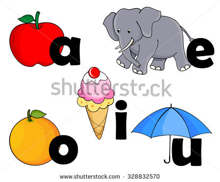 Vowels Stock Images, Royalty.