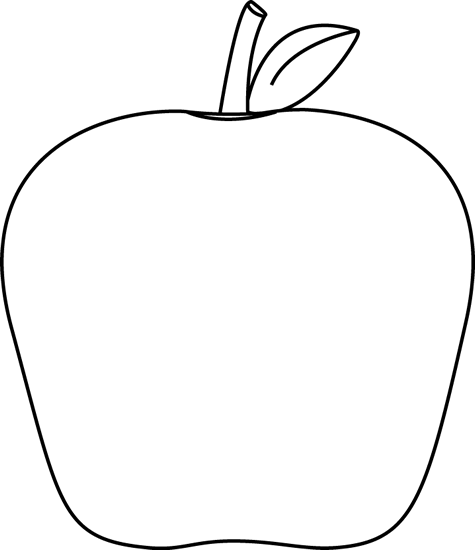 Download Black And White Apple Apple Outline, Apple Clip Art.