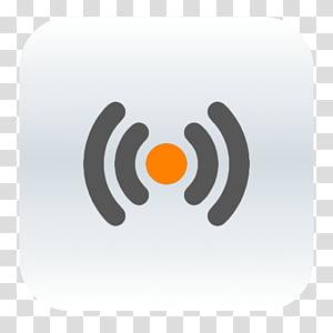 OS X dock icons, Vox, signal logo transparent background PNG.